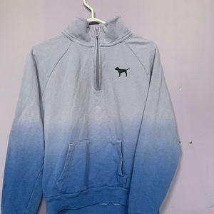 3 Quarter Zip Pink Sweatershirt